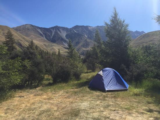 Mount Cook Glentanner Park Centre: Campsite for the night