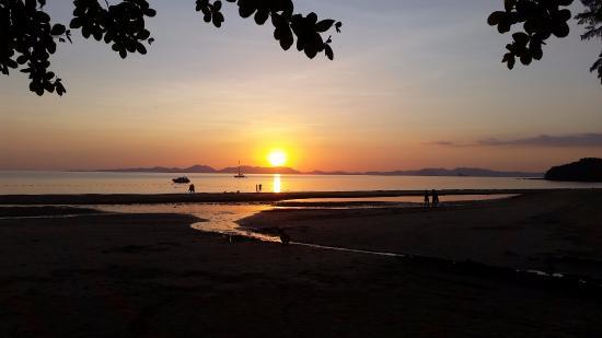 sunset at the beach picture of dusit thani krabi beach resort rh tripadvisor co uk