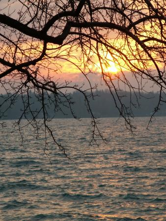 Lagos Finger, estado de Nueva York: Skaneateles Lake (Finger lakes NY) at sunrise