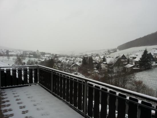 Sauerland Alpin Hotel: Uitzicht vanaf kamer aan voorzijde hotel