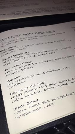 Charles Hotel: The cocktail menu