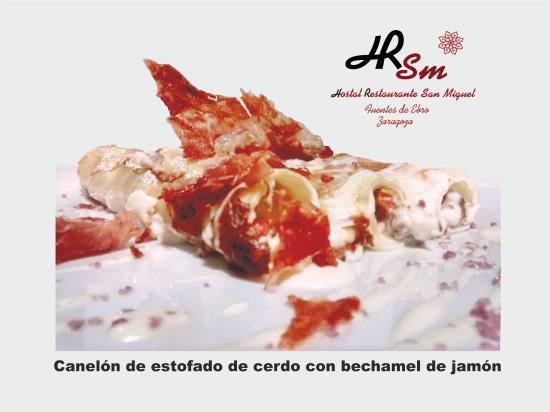 Fuentes de Ebro, Ισπανία: Canelones de estofado de cerdor HRSM