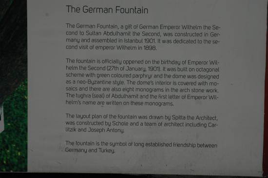 signboard with description - Picture of Fountain of Kaiser ...