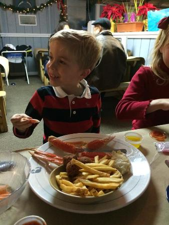 Gainesville, VA: Alaskan snow crabs legs on the KIDS menu!