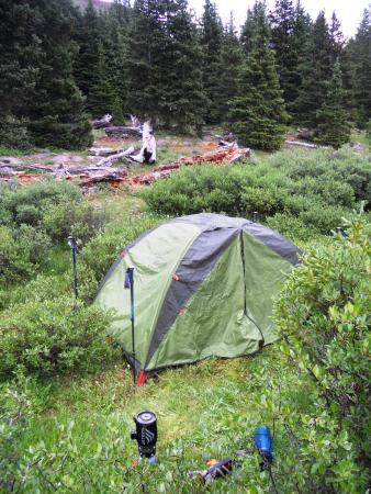 High Uintas Wilderness Area: peaceful campsite