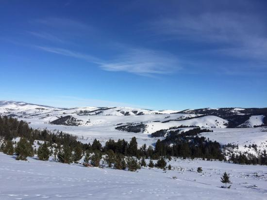 Philipsburg, Монтана: Cross country skiing to the ranch's Top of the World on New Year's Eve