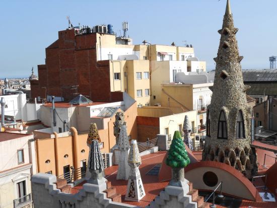 Hotel Gaudi: Vyn från takterrassen Hotell Gaudi