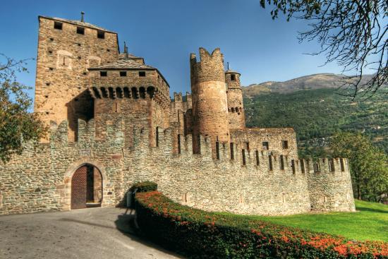 Fenis, Italie : Le mura esterne