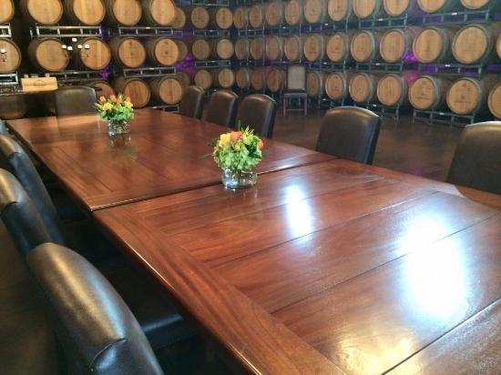 Chimney Rock Winery: you can book this cellar for an intimate dining experience