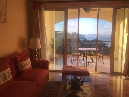 Villa del Palmar Flamingos: Our living room view. Not our bedroom view which is even better.