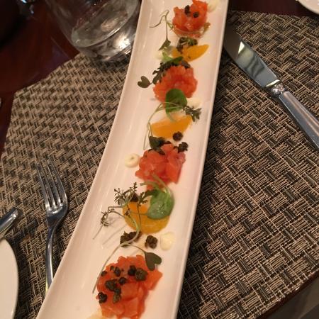 Aureole: Smoked Salmon (1st course)