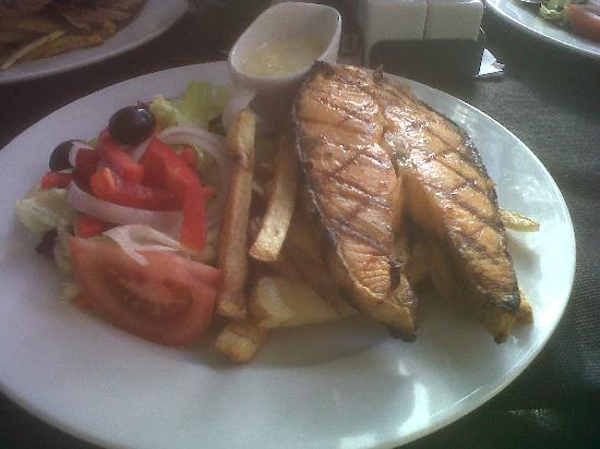 Villamartin, Spagna: Salmon steak