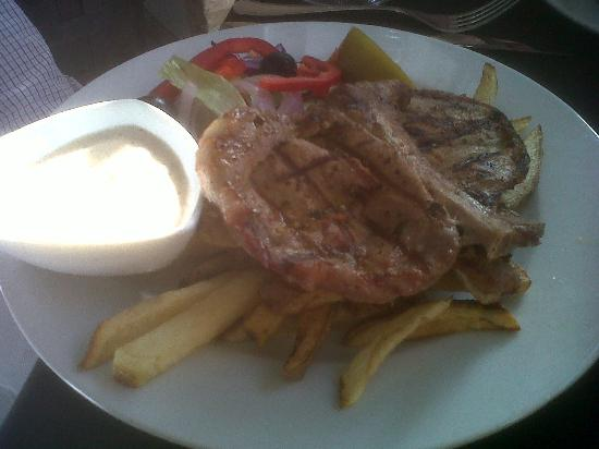 Villamartin, Spagna: Pork steaks with peppercorn sauce