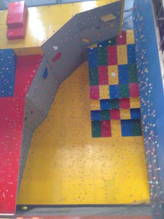Newton Aycliffe, UK: Climbing wall
