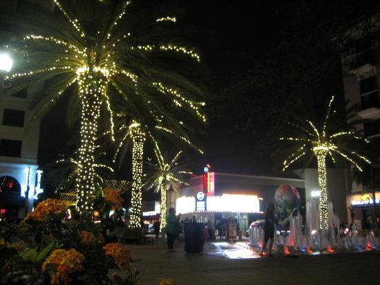 Clematis Street: Abendliche Lichteffekte