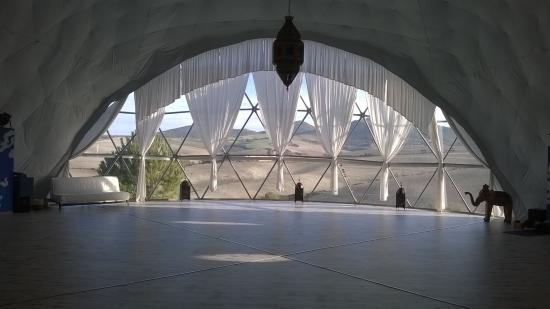 View from the yoga dome