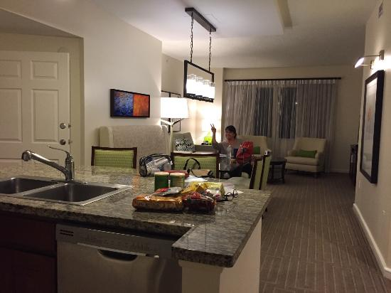 view to living room sofa bed from kitchen area picture of rh tripadvisor ca
