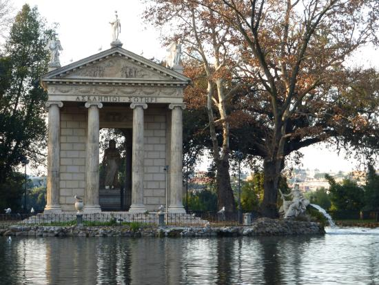 Image result for pond in villa borghese