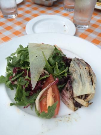 Bethesda, MD: Arugula and grilled radicchio salad