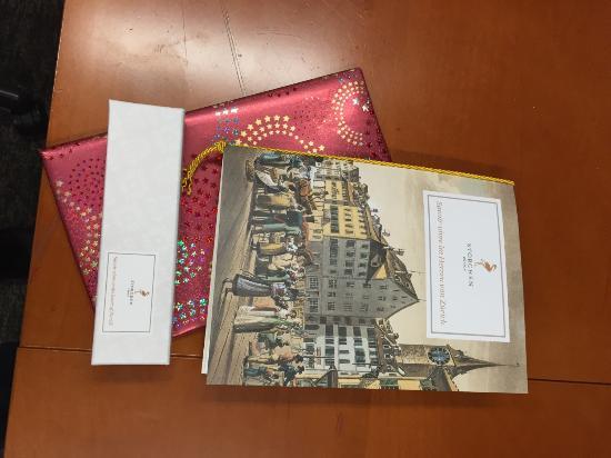 Birthday gifts from Storchen Zurich