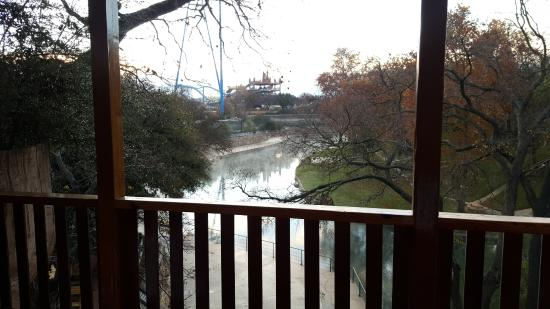 The Resort at Schlitterbahn: View of the river from Suite 701