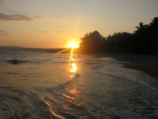 Tambor, Costa Rica: zonsondergang