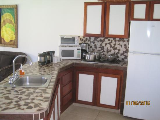 Hotel Villas Playa Samara: Kitchen area in the villa