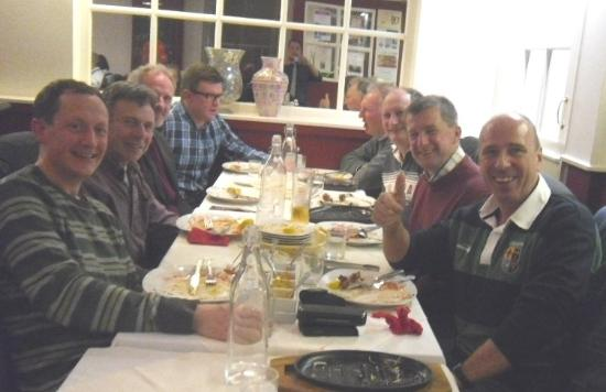 Otley, UK : Friends and Colleagues enjoying the ambiance at the Red Pepper