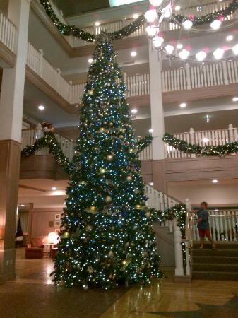 Disney's Vero Beach Resort: All set for Christmas with 3-storey tree.