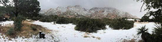 Pearce, AZ: Mountain view with snow