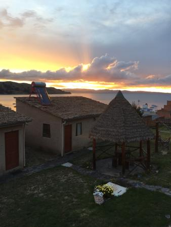 La Aldea del Inca : sunset Lake Titicaca