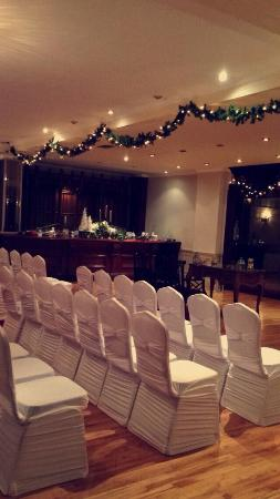 We had our most amazing wedding ceramony in the longford arms on Dec 30 2015. What a magical hot