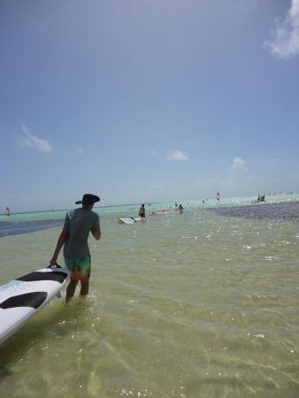 Lac Bay: Ready to learn to surf