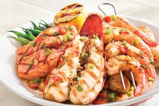 Wood-grilled lobster, shrimp, and salmon - Picture of Red Lobster, Tallahassee - TripAdvisor