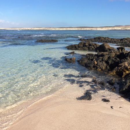 Laguna vicino al faro, isolatissima - Picture of El Cotillo Beach & Lagoo...