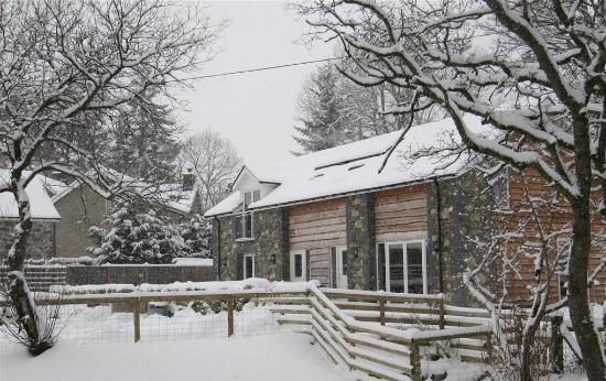 Llanuwchllyn, UK: Winter at the cottages
