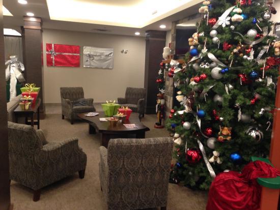 Lindsay, Canadá: Christmas lobby