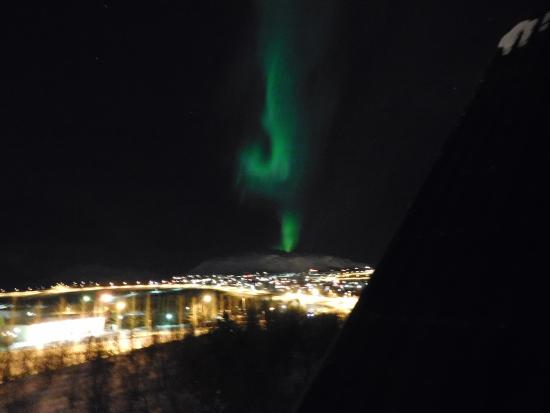 Hotel Laxnes: Northern lights from our room