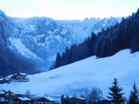 Chalet Hotel La Chaumiere: Avoriaz from our room