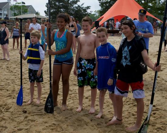 Point Pleasant, Nueva Jersey: Treasure Island Pirate Paddle SUP Race, 2015, Kid's race