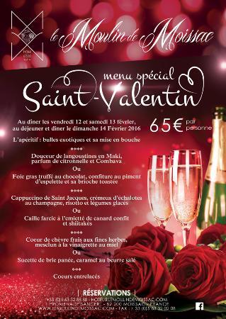 Moissac, Francia: Menu Saint Valentin 2016