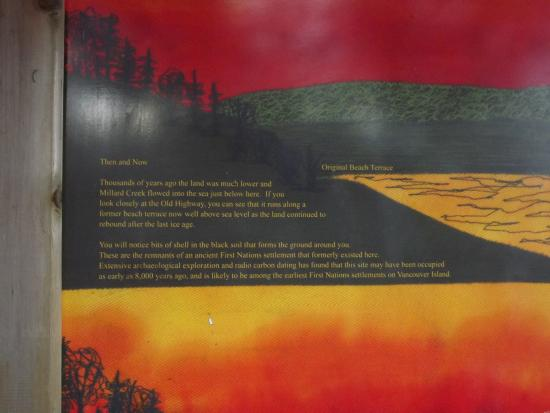 Courtenay, Kanada: Some History on the Park sign