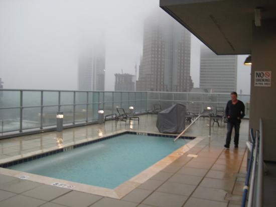 upstairs pool pouring rain picture of hyatt place charlotte rh tripadvisor com