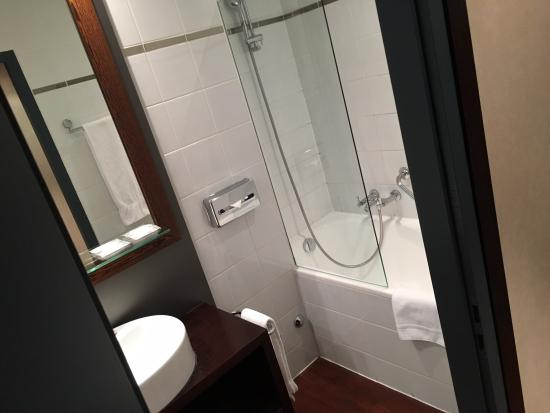 Hotel Auteuil - Manotel Geneva: Not large bathroom but clean and functional