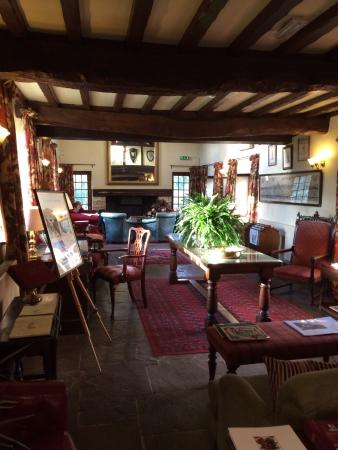 Minster Lovell, UK: Lounge area