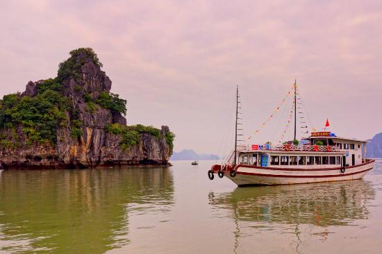 Hanoi, Vietnam: A boat ride at the beautiful HaLong Bay was a high lite of our trip to Vietnam.