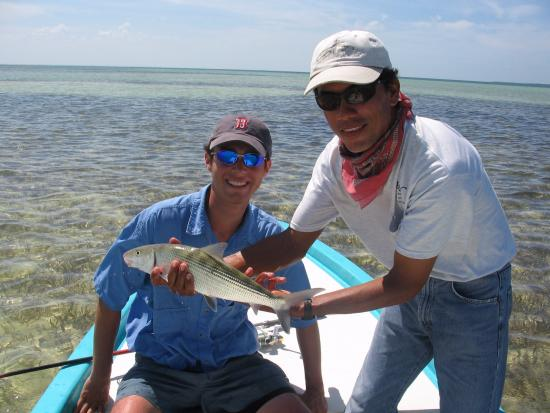 2007 my nephew 39 s first ever caught fish a bonefish for Cancun fishing trips