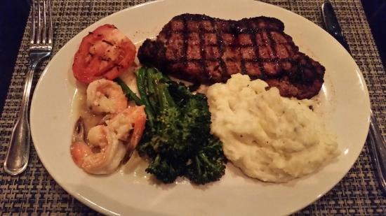 ny strip steak shrimp scampi brocoli and truffle chive mashed rh tripadvisor ie
