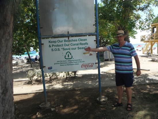 Worthing Beach: Beach-Sign
