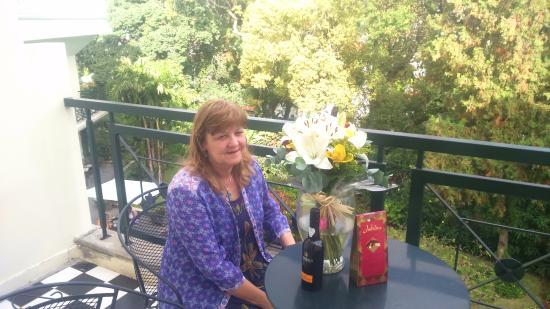 Quintinha São João: On the verandah